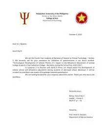 Endorsement Letter For Moral Validation Letter Thesis