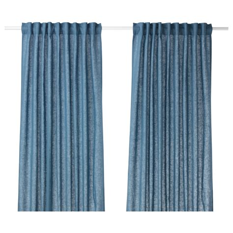 ikea blue curtains aina curtains 1 pair blue 145x250 cm ikea