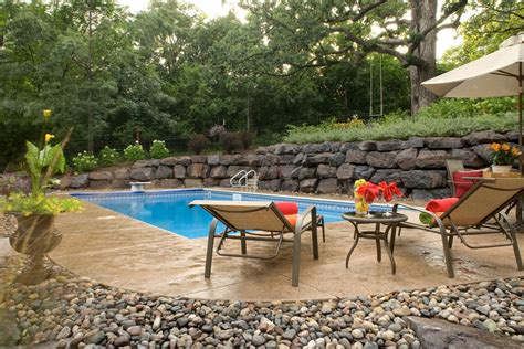 how to level a hilly backyard swimming pool landscape in eagan mn southview design landscape design build