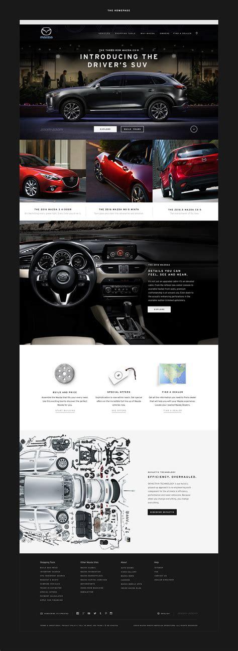mazda website usa mazda usa ui design