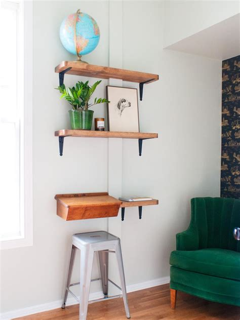 Small Desk With Shelves by Organization And Storage Ideas For Small Spaces Hgtv