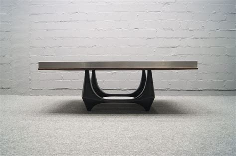 aluminium coffee table aluminum coffee table by heinz lilienthal 1960s for sale