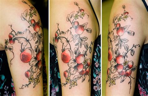 tomato tattoo tomatoe plant tattoomagz