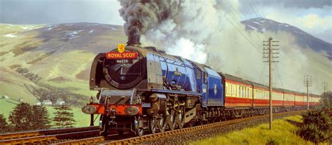 painting trains about the guild of railway artists rail prints and