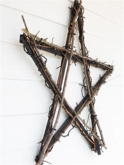 Create A North Star Wall Hanging With Yardsticks Hgtv