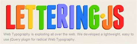 lettering js easy to use jquery plugin for radical web typography web