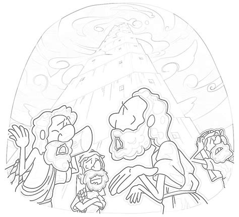 coloring page for tower of babel tower of babel coloring pages free az coloring pages