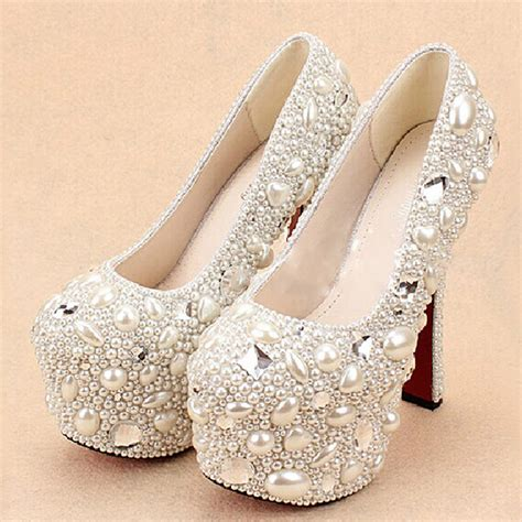 high heels with pearls aliexpress buy free shipping wedding shoes