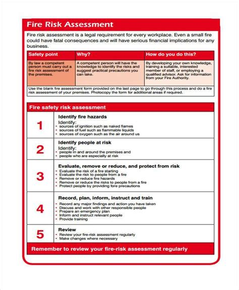 risk self assessment template 8 risk assessment form sles free sle