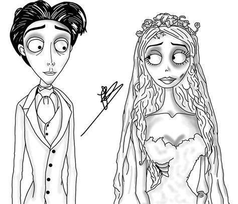 corpse bride free coloring pages