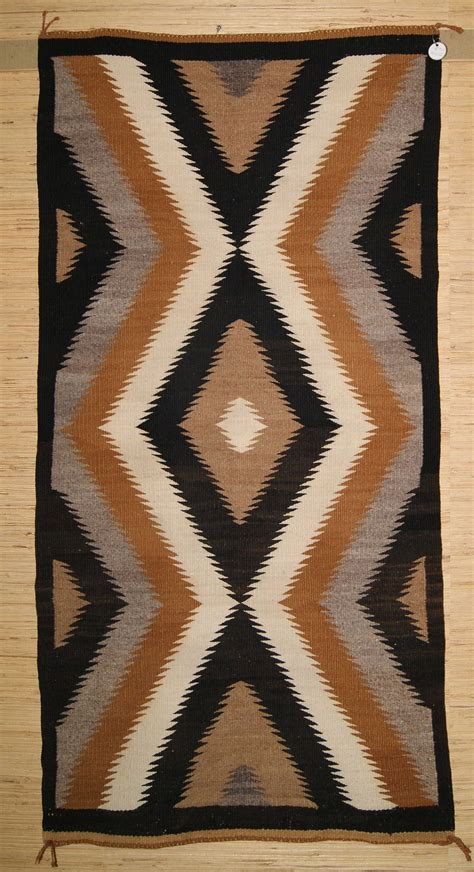 Two Grey Rugs For Sale by Two Grey Lighting Bolt Diamonds Navajo Weaving 005