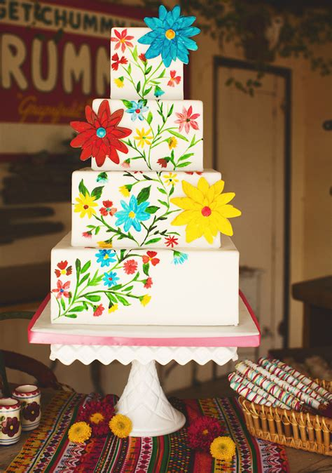 mexican wedding cake ideas    colorful