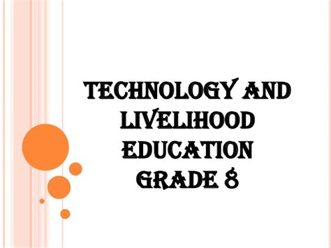 thesis about technology and livelihood education tle lessons
