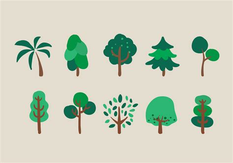 free clipart vector vector trees illustration set free vector