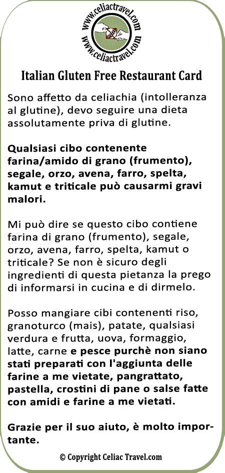 Italian Restaurant Gift Card - italian celiac coeliac gluten free restaurant card