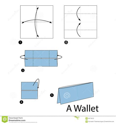 Make A Paper Wallet - step by step how to make origami a wallet