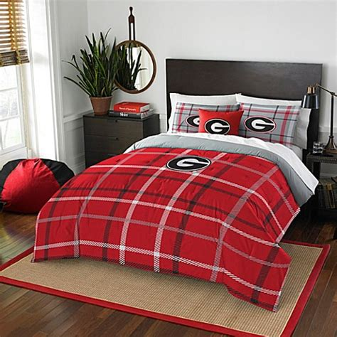 bed bath beyond okc university of georgia embroidered comforter set bed bath