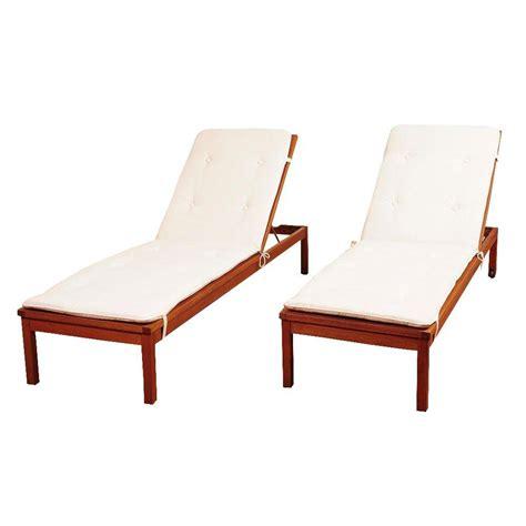 eucalyptus chaise lounge amazonia murano 2 piece eucalyptus wheel patio lounger set