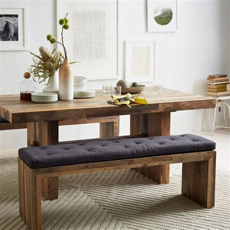 plank dining bench emmerson 174 reclaimed wood dining bench west elm