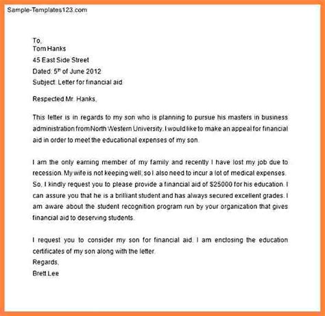 Application Letter Format For Finance 7 Application Letter For Financial Assistance Bussines 2017