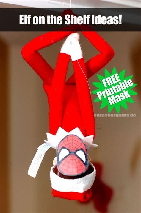 printable elf on the shelf spiderman mask elf on the shelf printable mask christmas printables