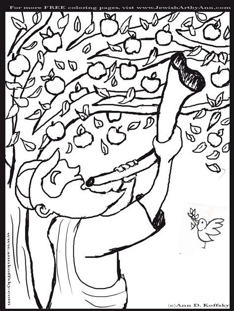 shofar coloring page shofar coloring page