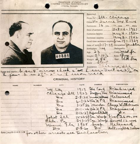 Al Capone Criminal Record Biography Al Capone Of The Chicago Mob Comic Book And Reviews
