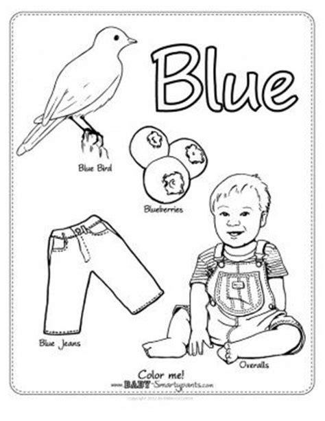 The Color Blue Lesson 1 4 Aiw 178 Home School Club Blue Coloring Page