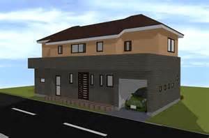 home design 40 40 間取り図と外観パース 40坪