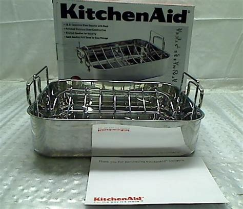Kitchenaid Roaster With Rack by Kitchenaid Gourmet Distinctions 16 5 Inch Roaster With
