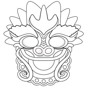 new year mask colouring new year colouring masks