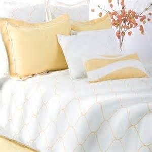 sutton bedding set in yellow white modern bedding