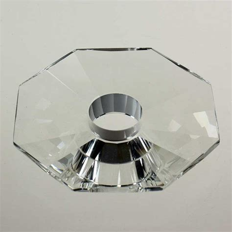 Bobeche Chandelier Parts 4 Quot Clear Flat 8 Sided Bobeche No Or 4 Pin Chandelierparts