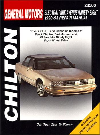 service manuals schematics 1993 oldsmobile 98 head up display general motors buick electra park avenue oldsmobile ninety eight fwd 1990 1993 chilton repair
