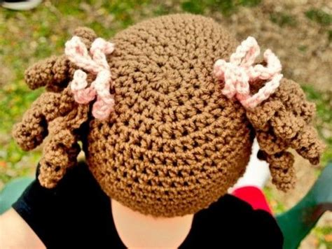 cabbage patch hat with pigtails free pattern crochet cabbage patch hats pattern lots of ideas