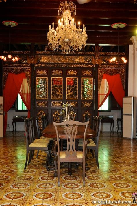 pinang peranakan mansion long table dining room home heart asian house chinese interior chinese antiques
