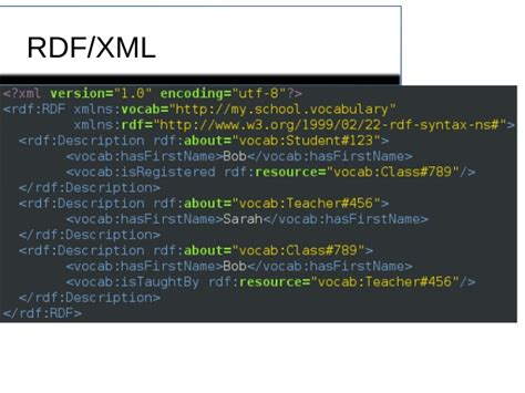 xml rdf tutorial graphing your data