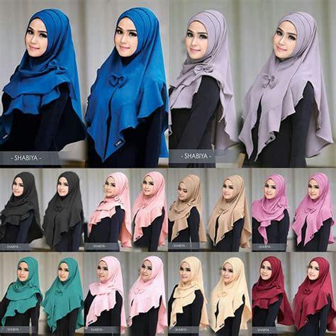 Jilbab Kerudung Rok Celana 2in1 High Quality jilbab instan shabiya lipit terbaru 2018 harga murah