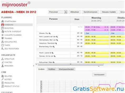 planner gratissoftware nl downloads gratis werkrooster software downloaden