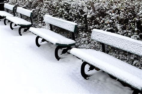 bench snow bench and snow free stock photo public domain pictures