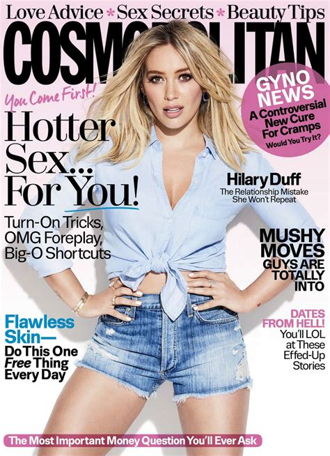 cosmopolitan article hilary duff in cosmopolitan magazine february 2017 issue