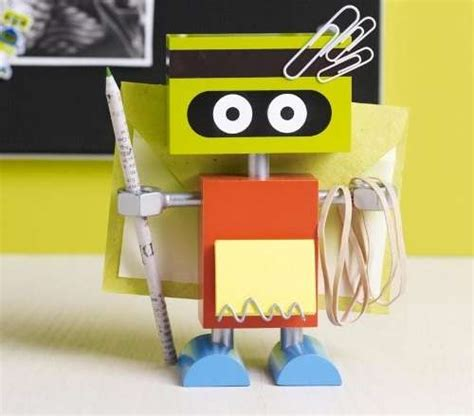 office favors cyborg supply holders robot desk organizer