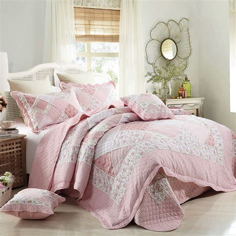 Patchwork Duvet Sets - chausub quality cotton patchwork quilt set 4pcs korean