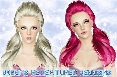 small ponytail hairstyle 228 by skysims sims 3 hairs the sims 3 double wrapped ponytail hairstyle skysims hair