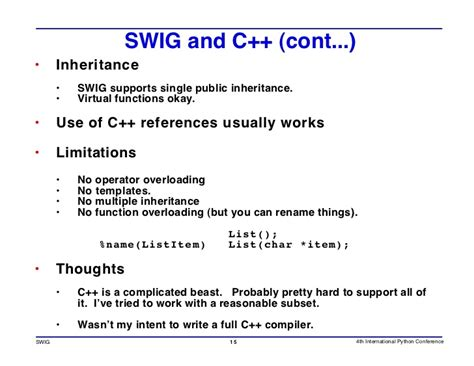 swig template using swig to prototype and debug c programs