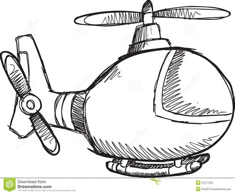 doodle helicopter doodle helicopter vector stock vector image 51077335