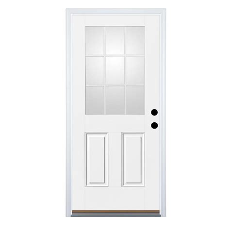 30x80 Exterior Door 30 Inch Exterior Door Lowes Shop Milliken Resistant Flush Prehung Inswing Steel Entry Door