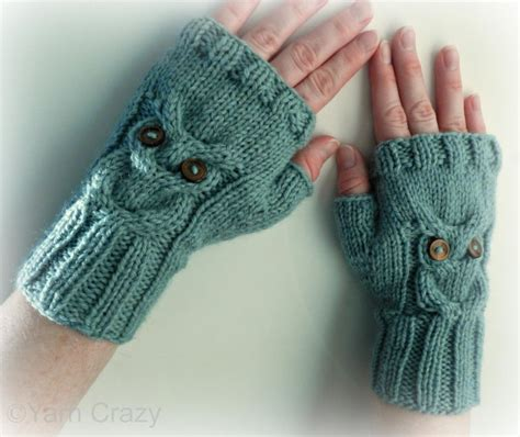 fingerless gloves knitting pattern owl fingerless mittens by naturegirlknits1 knitting pattern