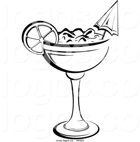 Black And White Cocktails Clipart 26