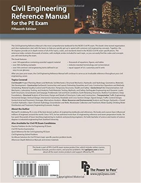 civil engineering reference manual for the pe 15th ed civil engineering reference manual for the pe 15th